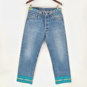VNTG Levi's 501xx Buzz 18 Beaded Made in USA Jeans
